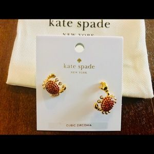 NWT Kate Spade Shore Thing Crab Earrings